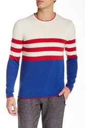 Parke And Ronen Killy Long Sleeve Crew Neck Sweater White