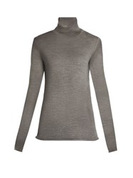 Joseph Roll Neck Merino Wool Sweater Grey