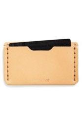 Billykirk Leather Card Case Beige