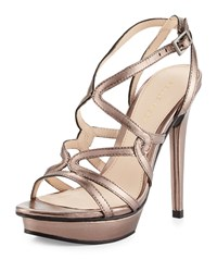 Pelle Moda Farah 2 Strappy Leather Sandal Pewter Silver