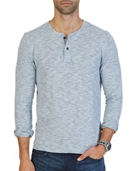 Nautica Slim Fit Long Sleeve Henley Anchor Blue