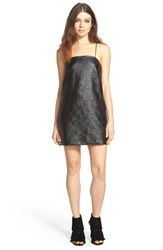 Whitney Eve 'Escalante' Textured Shift Dress Black