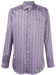 Etro Abstract Print Shirt Pink And Purple