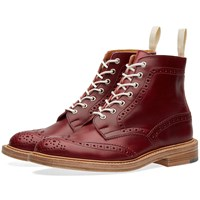 Trickers End. X Tricker's Stow Brogue Boot Red
