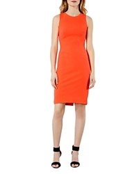 Karen Millen Sheath Dress Orange