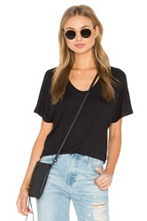 Heather Rib Shirttail Tee Black