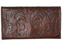 American West Baroque Trifold Wallet Chestnut Wallet Handbags Brown