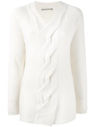 Ermanno Scervino Braided Front Jumper White