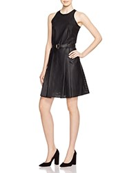Michael Michael Kors Perforated Faux Leather Dress Black
