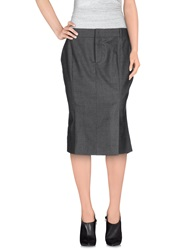 Tom Ford Knee Length Skirts Grey
