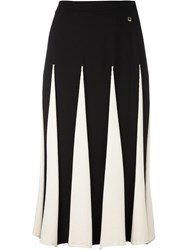 Twin Set Pleated Midi Skirt Black