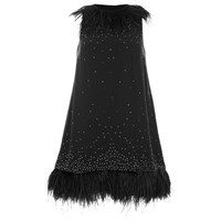 French Connection Women's Embellished Party Dress Black