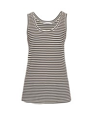 Max Mara Geo Tank Top Black White