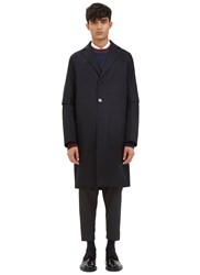 Oamc Airborne Tailored Trench Coat Navy