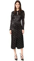 Nina Ricci Printed Satin Dress Black