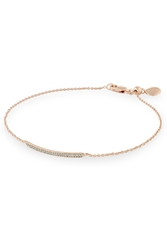 Monica Vinader Skinny Bar Rose Gold Plated Diamond Bracelet