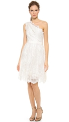 Marchesa Embroidered Lace Dress Ivory