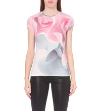 Ted Baker Ciaa Porcelain Rose Jersey T Shirt Nude Pink