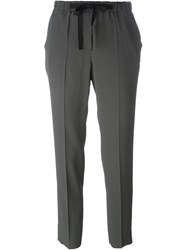 Incotex Cropped Trousers Grey