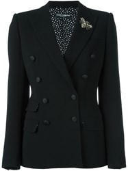 Dolce And Gabbana Bee Embellished Blazer Black