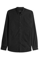 The Kooples Printed Cotton Shirt Black