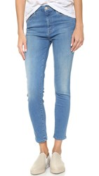 Mother High Waisted Looker Crop Jeans Chill