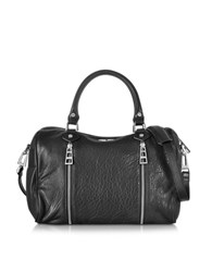 Zadig And Voltaire Sunny Medium Bubble Leather Satchel Bag Black