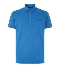 Galvin Green Mills Cotton Blend Polo Top Male Blue