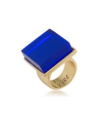 Trina Turk 14K Goldplated Brass Ring Blue