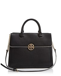Tory Burch Duet Chain Convertible Satchel Black New Ivory