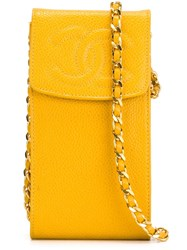 Chanel Vintage Logo Phone Case Yellow And Orange