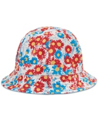 Lrg Reversible In Bloom Bucket Hat Off White