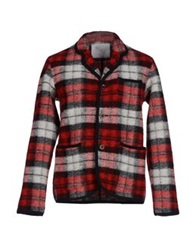 White Mountaineering Blazers Red