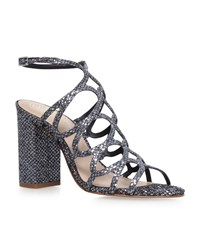 Kg By Kurt Geiger Hallie Strappy Heeled Sandals Female Metallic