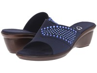 Onex Shine Navy Blue Stones Women's Sandals