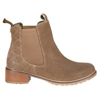Barbour Latimer Block Heeled Ankle Boots Stone Suede
