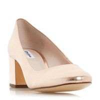 Dune Annalena Low Block Round Courts Rose Gold
