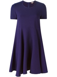 P.A.R.O.S.H. Flared A Line Dress Pink And Purple