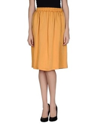 Attic And Barn Attic And Barn Knee Length Skirts Orange