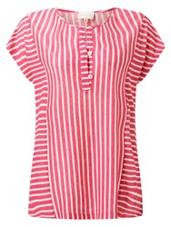 East Stripe Jersey Top Pink