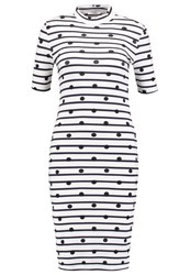 Pieces Pchia Jersey Dress Bright White