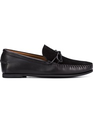 Tomas Maier Panelled Moccasins Black