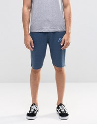 Blend Of America Raw Hem Sweat Shorts In Blue Ensign Blue