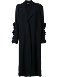 Elaidi Long Overcoat Black
