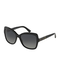 Dandg D And G Polarized Acetate Butterfly Sunglasses Black