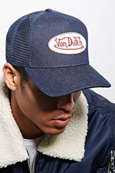 Forever 21 Von Dutch Logo Trucker Hat Denim White
