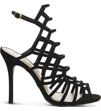 Office Trance Caged Suede Sandals Black Nubuck