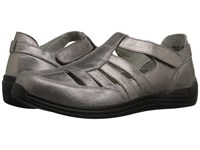Drew Shoe Ginger Dusty Pewter Leather Women's Hook And Loop Shoes