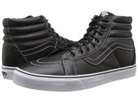Vans Sk8 Hi Reissue Leather Black Plaid Skate Shoes