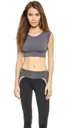 Solow Muscle Crop Top Carbon